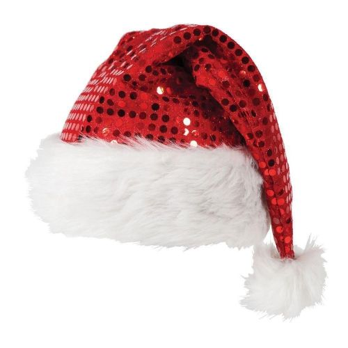 Red Sequin Christmas Santa Party Festive Family Hats Fancy Dress Hat Gift